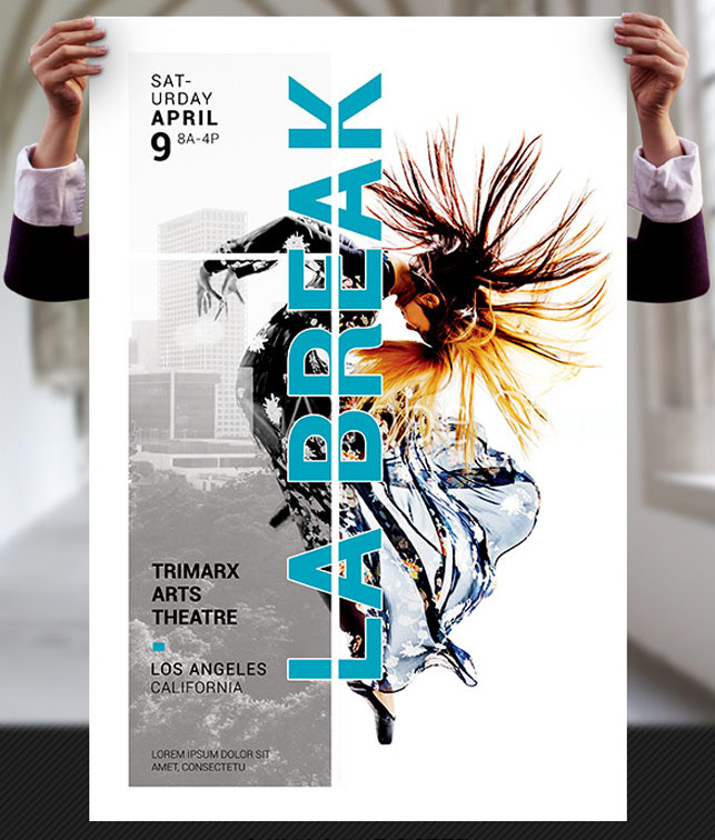 Dance Theater Flyer and Poster Template by Godserv on DeviantArt