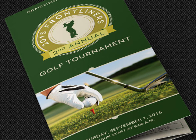 Charity Golf Tournament Brochure Template by Godserv