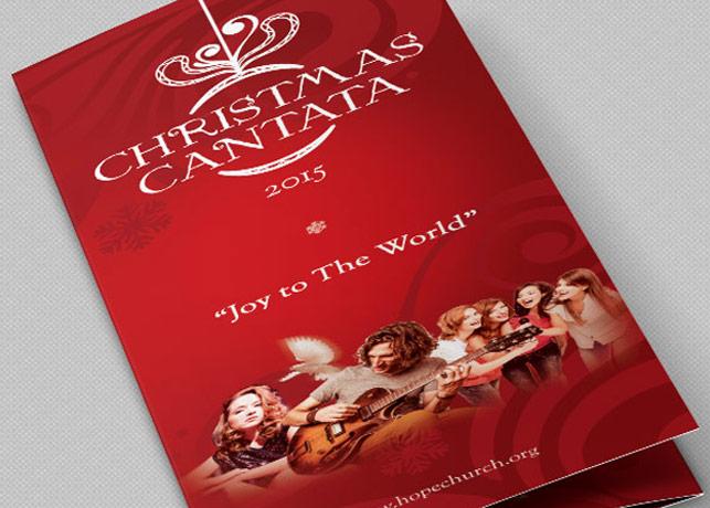 Christmas Cantata Brochure Template by Godserv