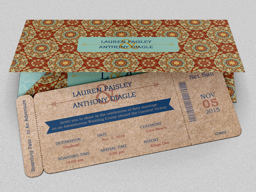 adventure boarding pass invitation by godserv on deviantart. Black Bedroom Furniture Sets. Home Design Ideas