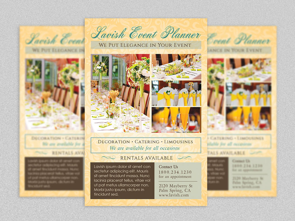 Event planner flyer template by godserv on deviantart for Event brochure templates