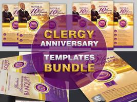 Clergy Anniversary Templates Bundle by Godserv