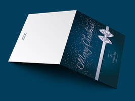 Merry Christmas Greeting Card Template by Godserv