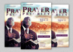 Prayer Priority Flyer and Poster Template by Godserv