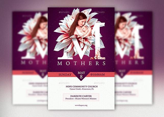 mothers church flyer poster template by godserv on deviantart. Black Bedroom Furniture Sets. Home Design Ideas