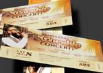 Church Worship Concert Ticket Template