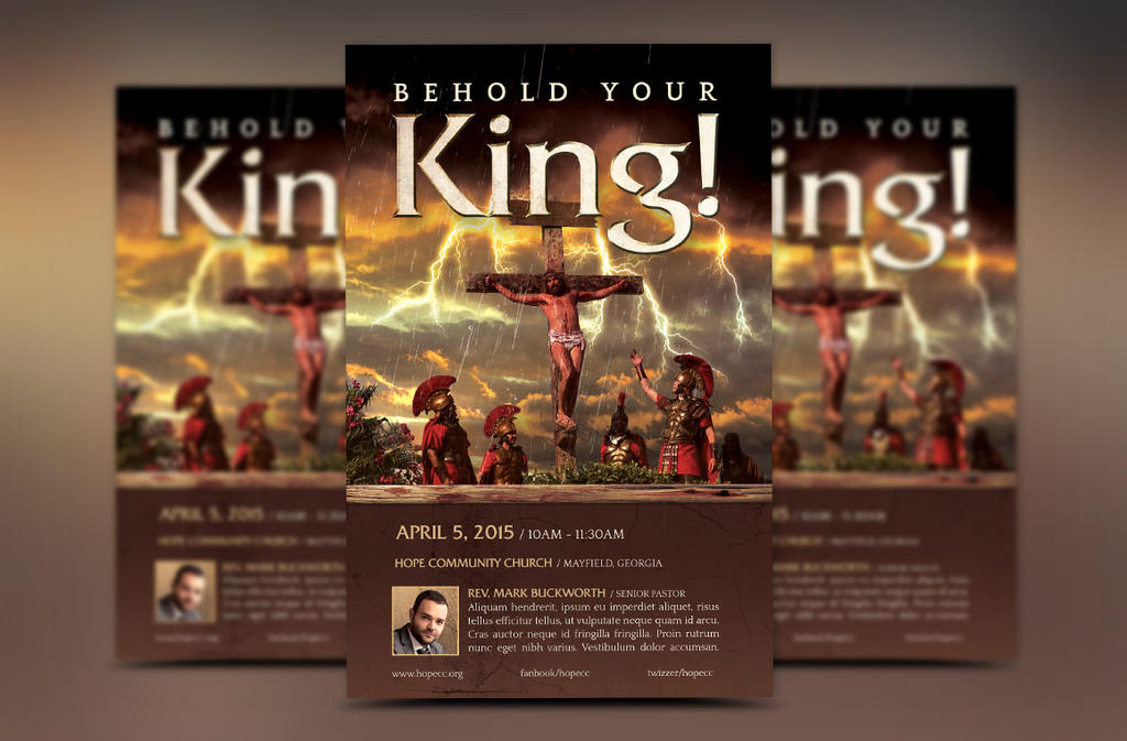 Crucified King Flyer Template by Godserv