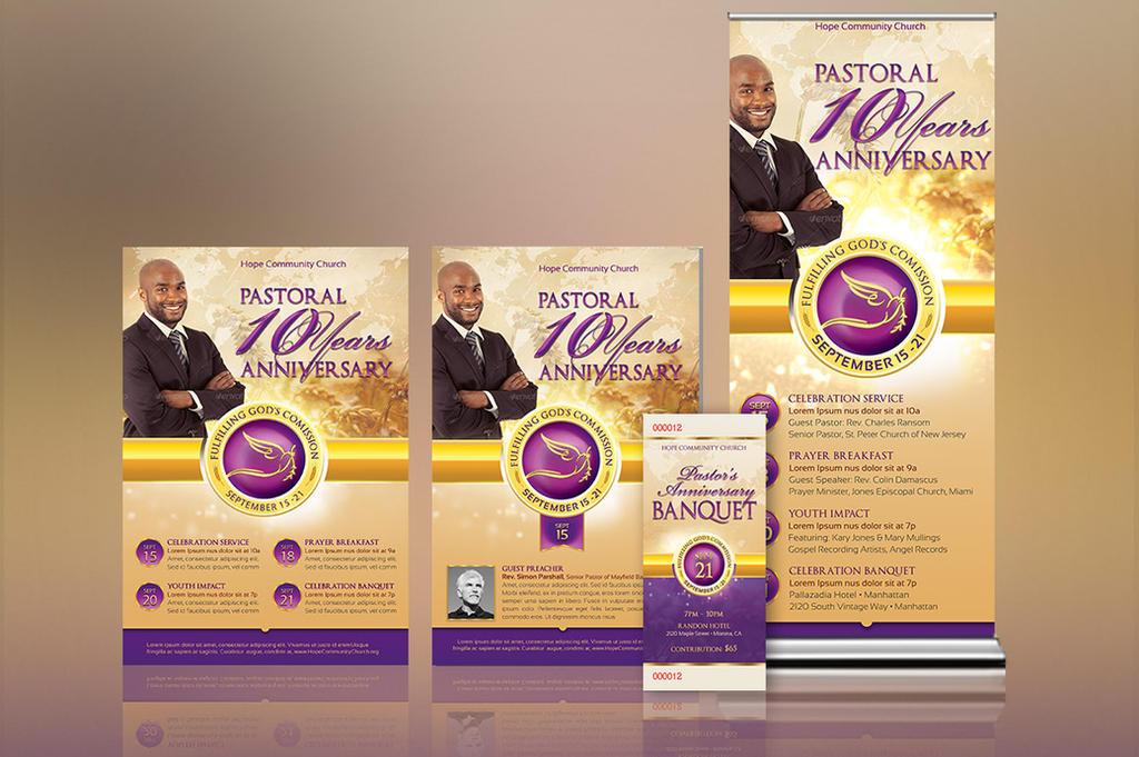 Clergy Anniversary Template Kit by Godserv