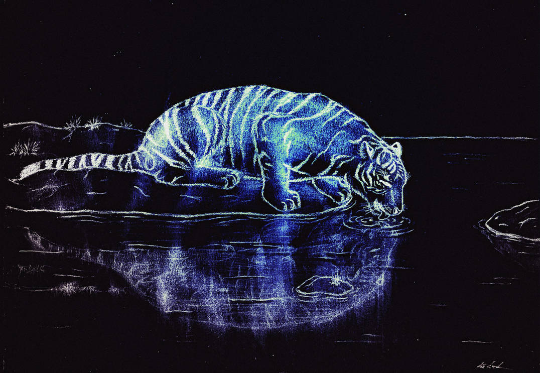 Drinking Tiger 3 - Glowing In The Night by Favenatig