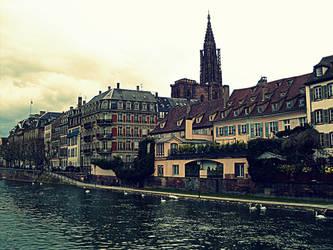 Cloudy Strasbourg by Favenatig