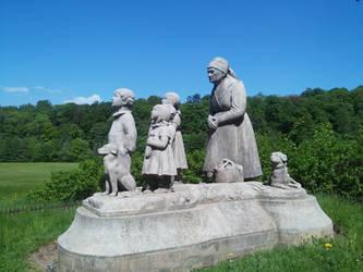 Granny and her grandchildren by Favenatig