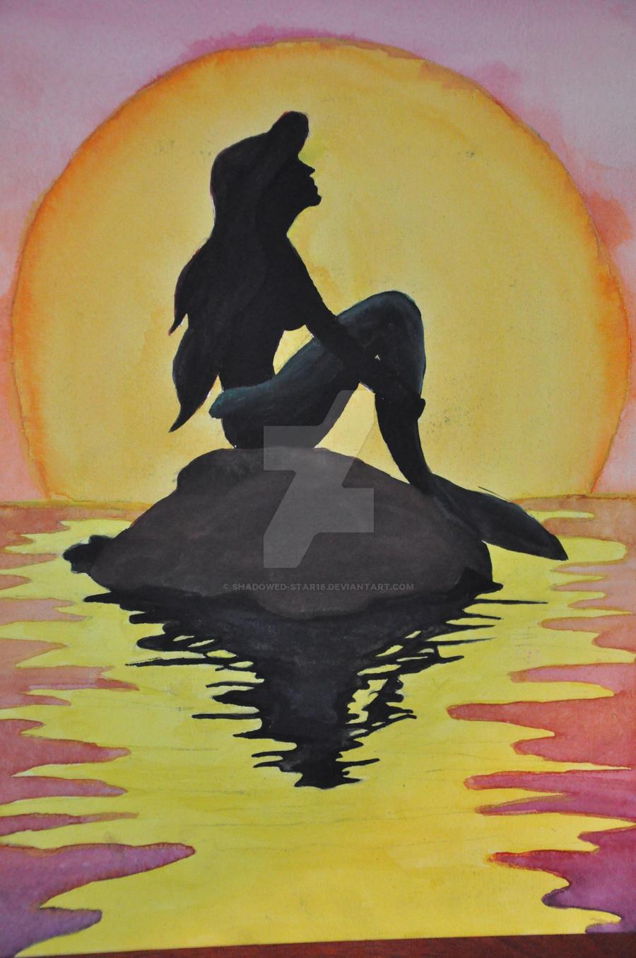 Little Mermaid Canvas Painting