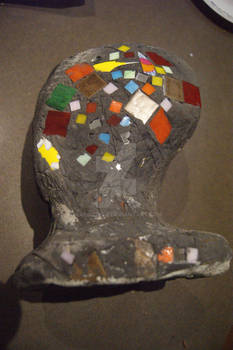 Mosaic Concrete Mannekin Head