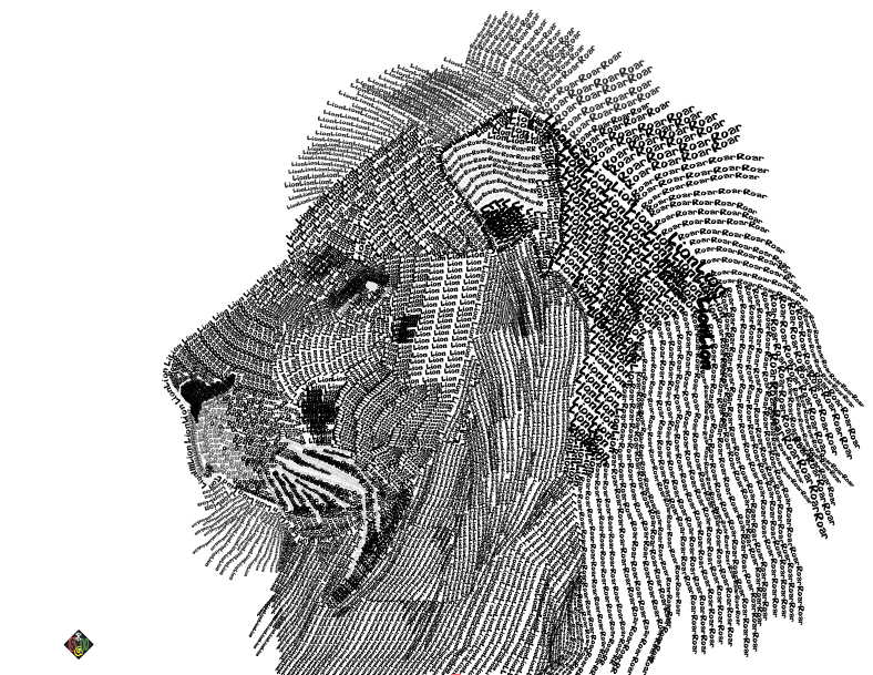 Typography Art Of A Lion By Skiboy24 On DeviantArt