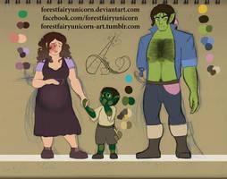 DOTL: NPCs Design 1, Family Portriat