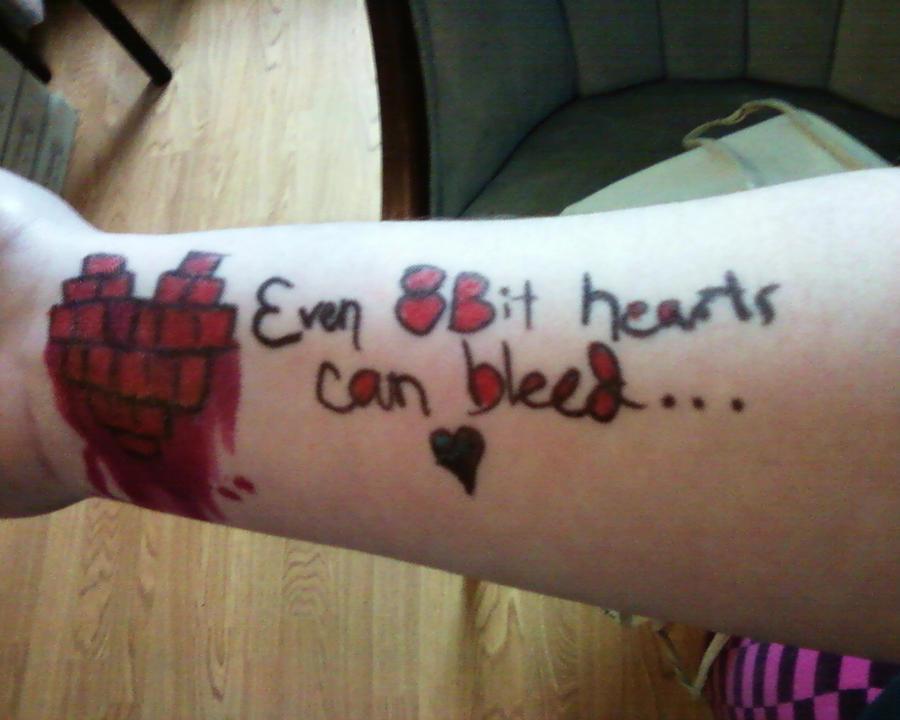 8Bit Heart Skin Graffiti by LightsOutGoCrazy on DeviantArt