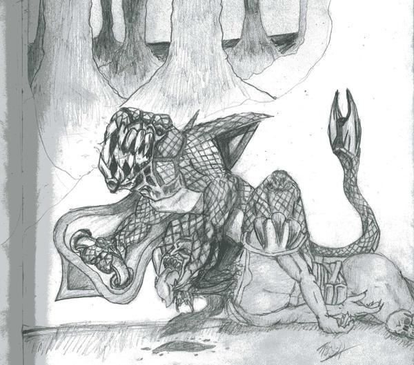 Coralith -Giant Lizard- by BlackFiber