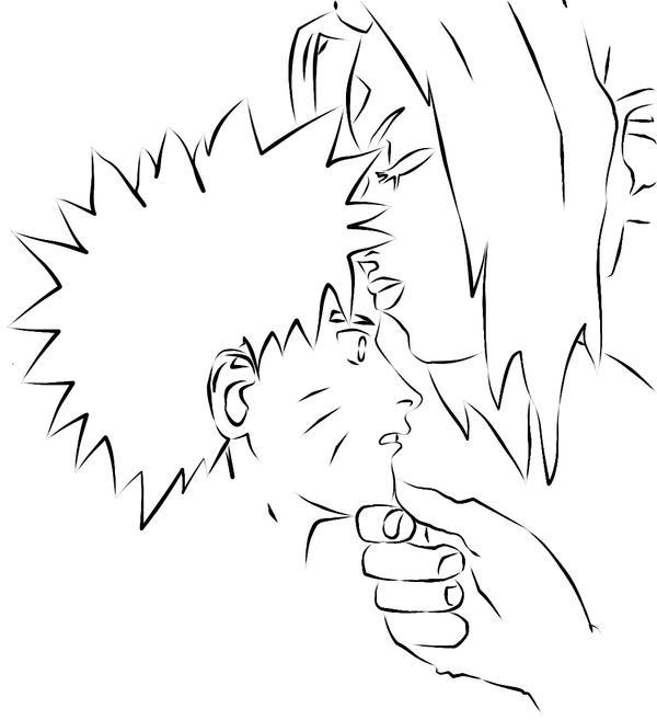 Naruto Revieces a kiss by BlackFiber