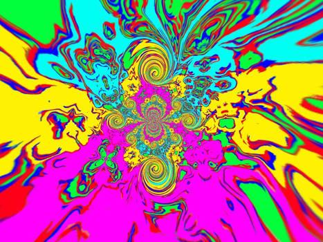 Psychedelic acid trip