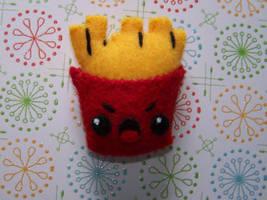Angry Fry Magnet by kamikaze-kawaii