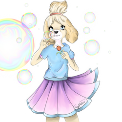 fanart Isabel Animal crossing New Leaf by AngelPatoo