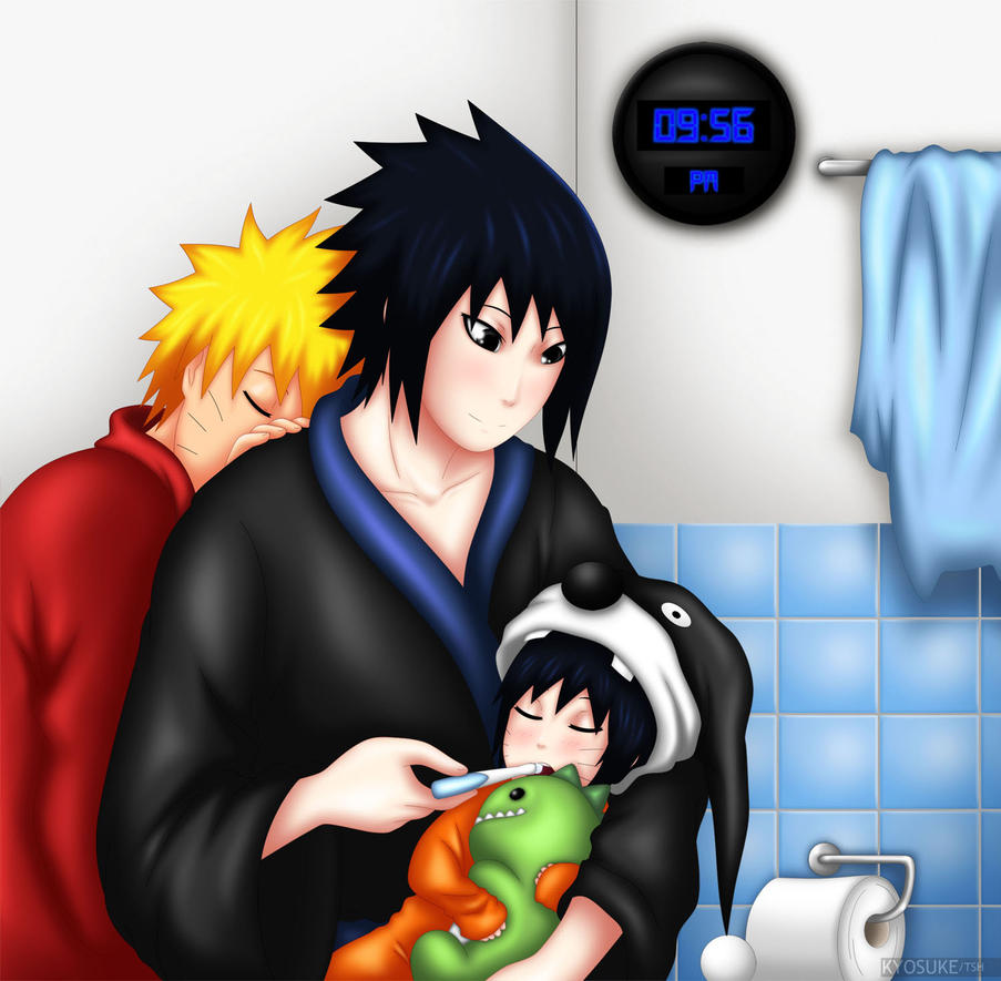 Sleepy Family by PRoachHeart-Sasuke