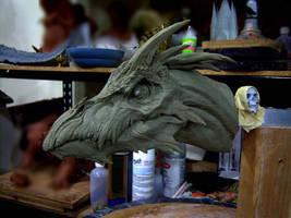 Dragon, clay sketch 3