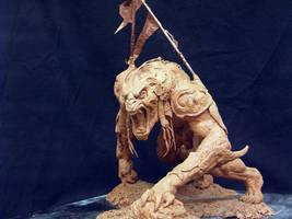 Riddick alien warrior front by DaveGrasso