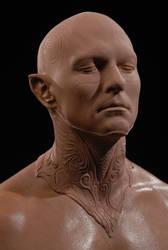 Prince Nuada Face and Neck by DaveGrasso