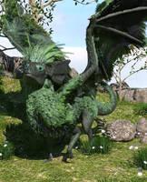 Forest Fae Dragon by chronos491