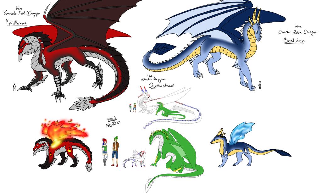size reference chart of dragon forms by starynight9846 on deviantart