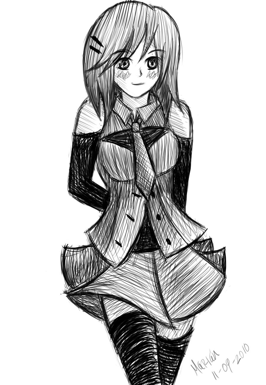 Doodle School Girl By Anime91girl On Deviantart