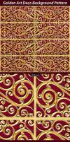 Golden Art Deco Background Pattern