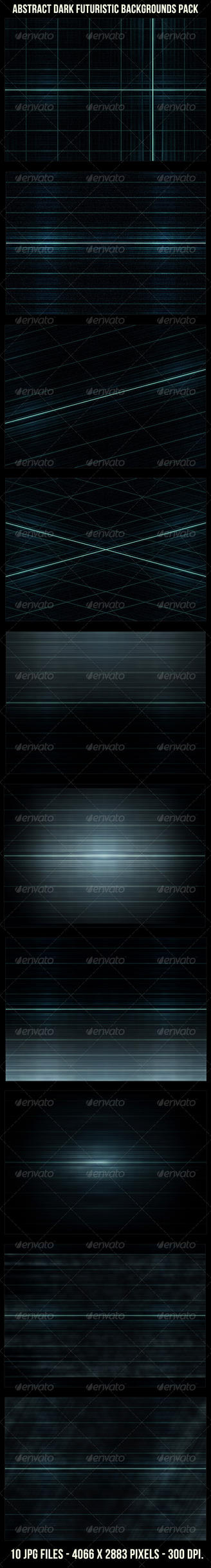 Abstract Futuristic Dark Backgrounds Pack by danfleites