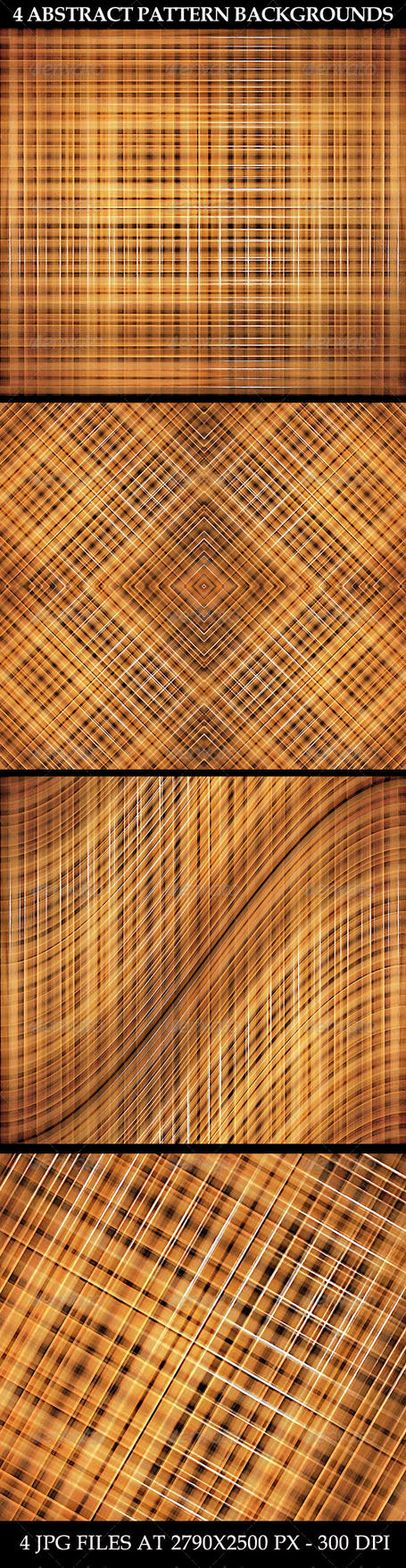 4 Abstract Pattern Backgrounds by danfleites