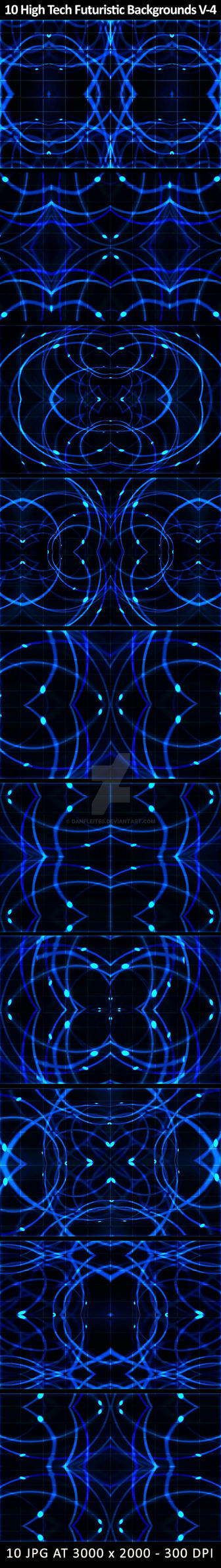 Preview 10 High Tech Futuristic Backgrounds by danfleites