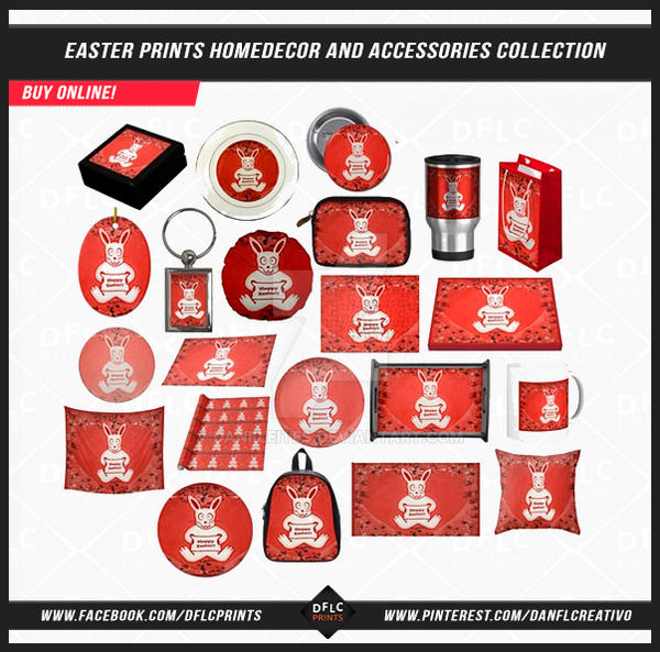 Easter Prints Homedecor and Accessories by danfleites