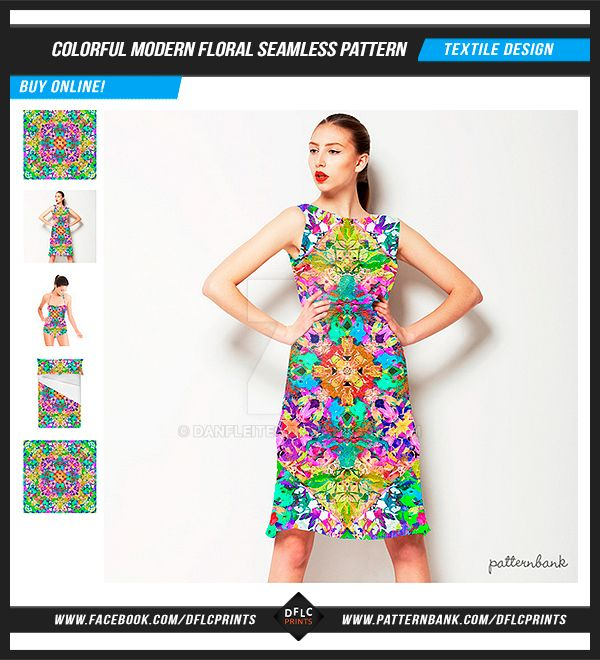 Colorful Modern Floral Seamless Pattern by danfleites