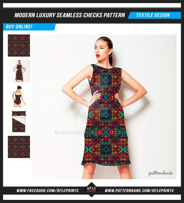 Modern Luxury Seamless Checks Pattern by danfleites