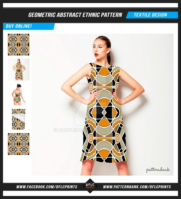 Geometric Abstract Ethnic Pattern by danfleites
