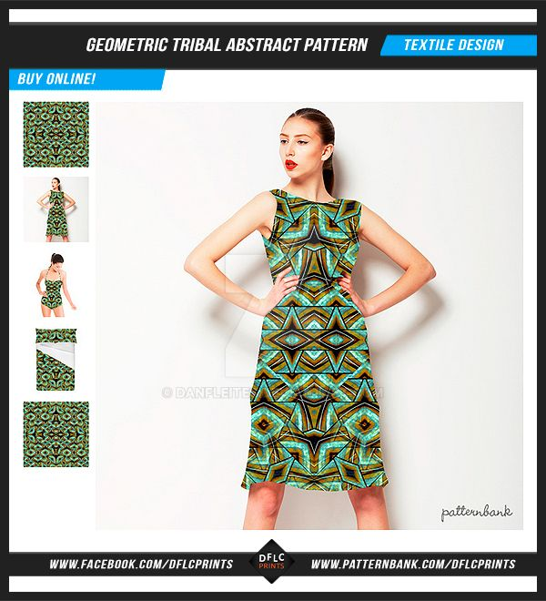 Geometric Tribal Abstract Pattern by danfleites
