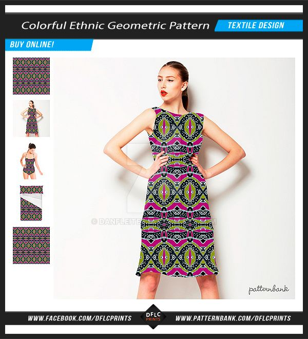 Colorful Ethnic Geometric Seamless Pattern by danfleites