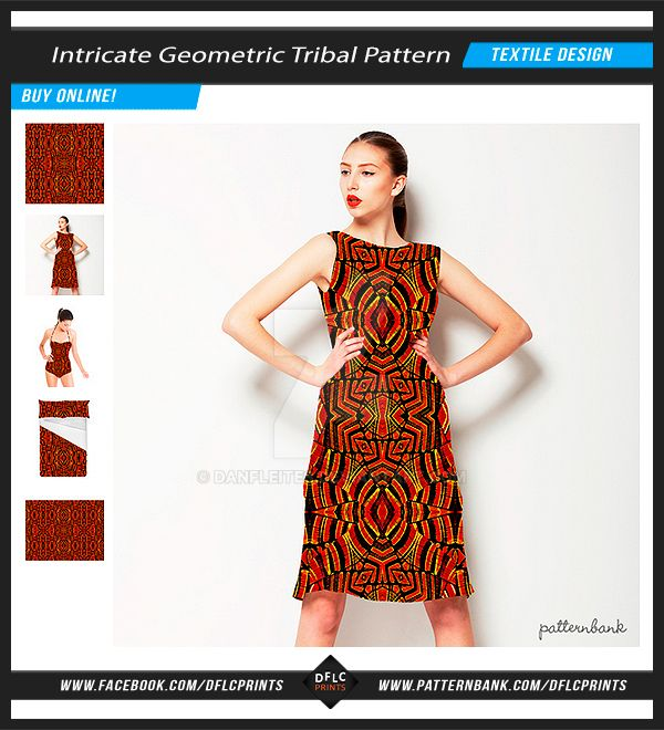 Intricate Geometric Tribal Seamless Pattern by danfleites