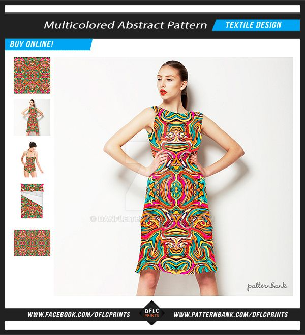 Multicolored Abstract Textile Pattern by danfleites