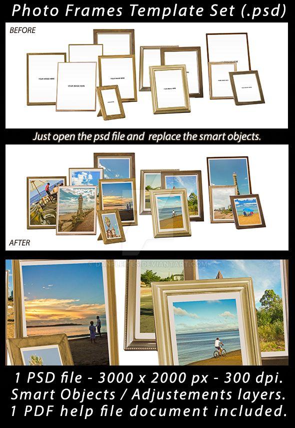 Portrait Photo Frames Template by danfleites