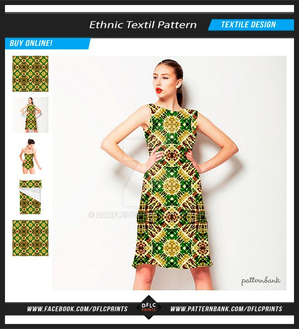 Ethnic Textile Geometric Pattern by danfleites