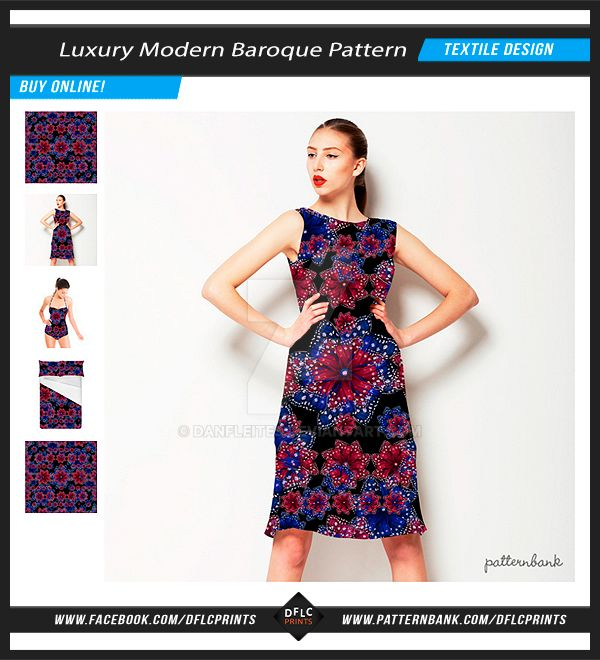 Luxury Modern Baroque Ornate Pattern by danfleites