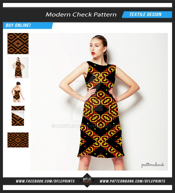 Modern Seamless Check Pattern by danfleites