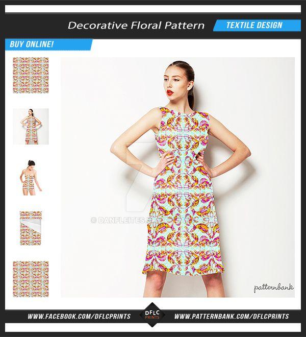 Decorative Floral Seamless Pattern by danfleites