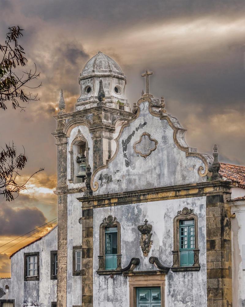 Exterior Facade Antique Colonial Church Olinda By